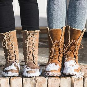 rismart Girls Wellies Mid-Calf Antiskid Button Pull On Rain Boots
