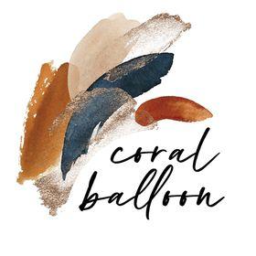 Coral Balloon - Wedding Invitation Designer