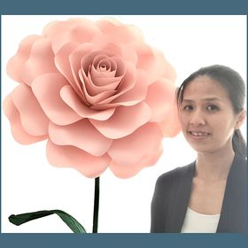 Paper Flowers Templates & Tutorials, Giant Flower Stems