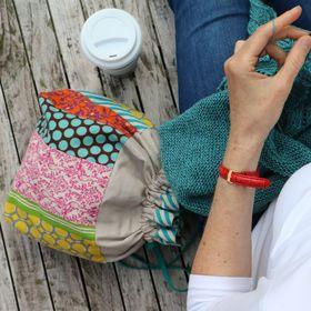 Pink Hazel | Hand Sewn Knitting Accessory Bags