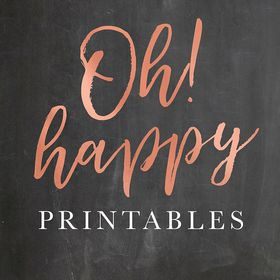 Oh Happy Printables