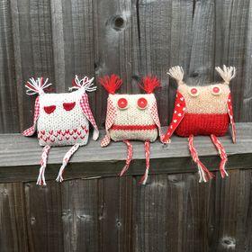 Three Woolly Owls