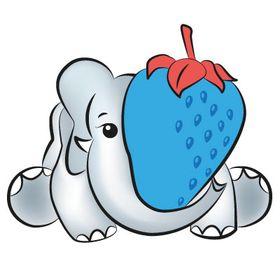 Blue Strawberry Elephant