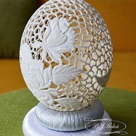 Pisanki rzeźbione - BJ Goleń egg art carved