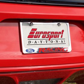 Eurosport Daytona Inc SRT with Hellcat Black License Plate Frame