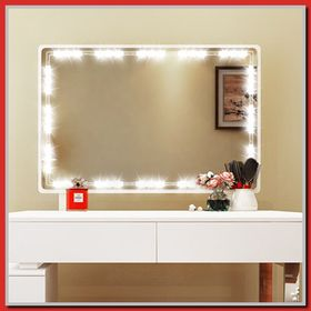 vanity mirror dresser with lights