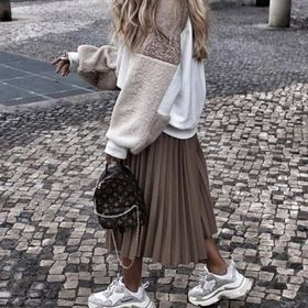 Vive Maria Montmatre Skirt Rock schwarz Allover-Print