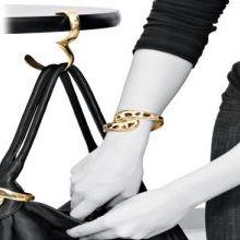 No Need Lead into Temptation Know Way Purse Bag Hanger Holder Hook