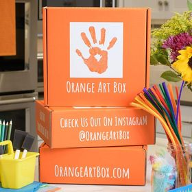 Orange Art Box - Arts & Crafts For Kids