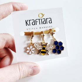 Kraftiara markers // Stitch markers for crochet and knitting