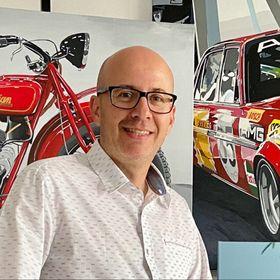 Mau Franco Art   Cars and Motorcycles Photorealistic Art