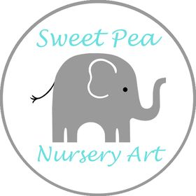 Sweet Pea Nursery Art and Home Decor | Find beautiful home decor