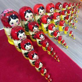 Russian Doll Babushka Matryoshka Pin Me