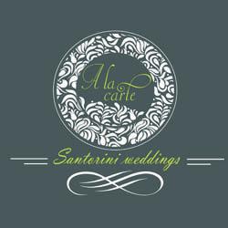 A la carte Santorini weddings
