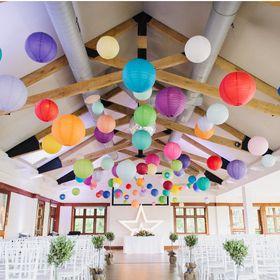 The Hanging Lantern Company - wedding paper lanterns, tissue pom poms, hand made paper birdcage lant