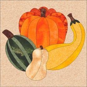 Pumpkin Patch Patterns & Quilting