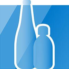 Glas-Trinkflaschen