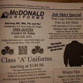 McDonaldUniforms UniformSpec