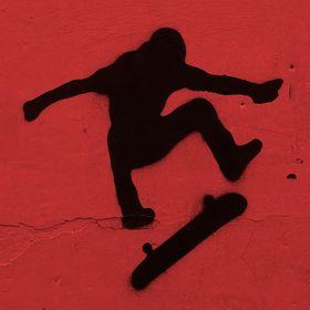 Hockey skateboard vinyl sticker Supreme ice skate SK8 fight dots