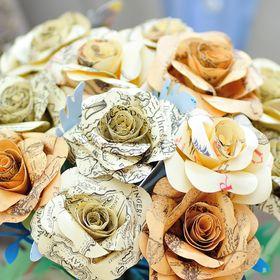 Paper Jackdaw - Paper flowers
