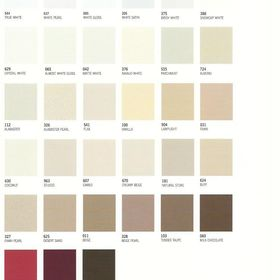 window blind color selection