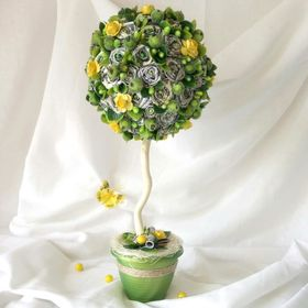 Alena Tikhonova topiary handmade   Топиарий от Алены Тихоновой