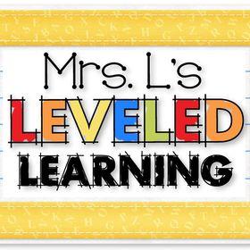 Mrs. L's Leveled Learning