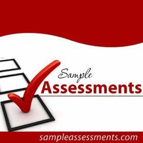 Sample Assessments Assessments On