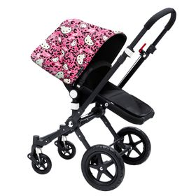 Plain black bumper bar cover to fit Bugaboo Donkey Cameleon iCandy Peach etc