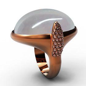 18K Or Rose sur Argent 925 Diamant Noir Accent X /& Bar Ring