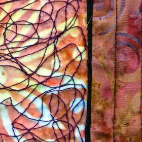inspired fibre art stitch