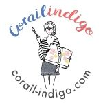 Corail-Indigo.com // Illustratrice Designer textile Aquarelle // Sur mesure ↠ Logos / Étiquettes en
