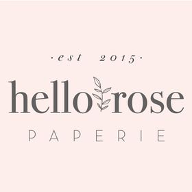 Hello Rose Paperie