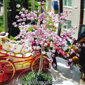 Dekoratif boncuk çiçek