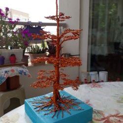 copper wire tree art