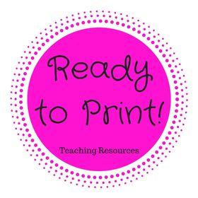 Ready to Print Teacher Resources