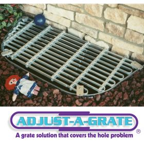 Adjustable Aluminum Window Well Grate x 30-40 in Adjust-A-Grate 15-18 in