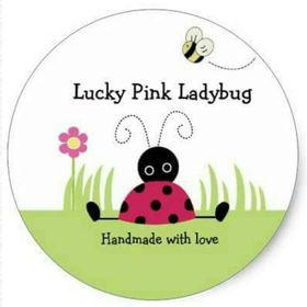 Lucky Pink Ladybug