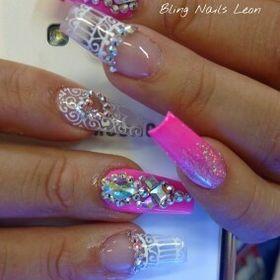 Bling nails León