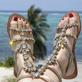 e08e127a863 Gorgeous Jeweled Shoes Pasha (gorgeoussandals) on Pinterest