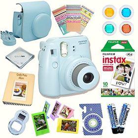 Pacchetto Camera Intero Leebotree Accessori Compatibile con Instax Mini 9 or Mini 8//8+ Fotocamera istantanea Caso//Album//selfie Lente//Filtri//Cornici//Adesivi Magic Silver