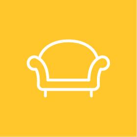 El sofá amarillo