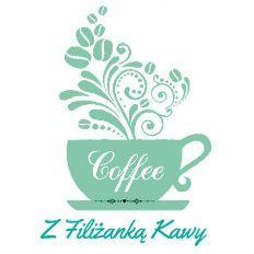 Z filiżanką kawy .