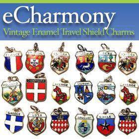 eCharmony Vintage Travel Charms