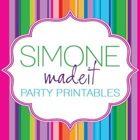 SIMONEmadeit Party Printables