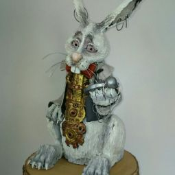 Alice in Wonderland art and quirky ceramics by Heather Sweet-Moon