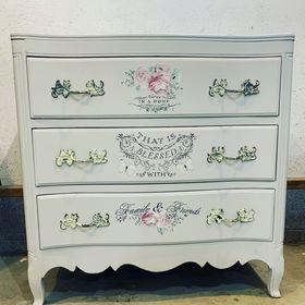 8 x Everlong Ceramic Knobs ~ Shabby chic style ~Navy Daisy~ Cupboard// Handle