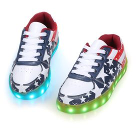 Kids Girls LED Light Butterfly Sequin Trainers Sneakers Running Shoes Party