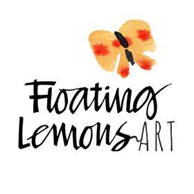 Floating Lemons Art