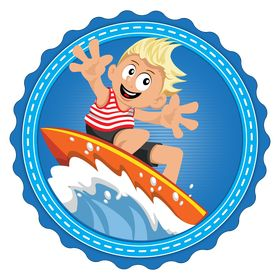 Surfer Kids Clip Art